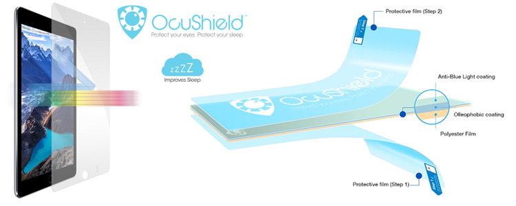 Ocushield blauw licht filter folie